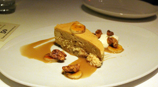 Bananas, cinnamon and rum make this cheesecake special.