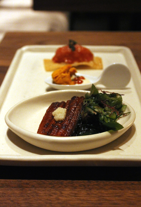 The first course in the kaiseki Pabu preview dinner.