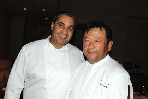 Chefs Michael Mina (left) and Ken Tominaga (right).