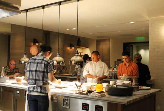 Part of the open kitchen.