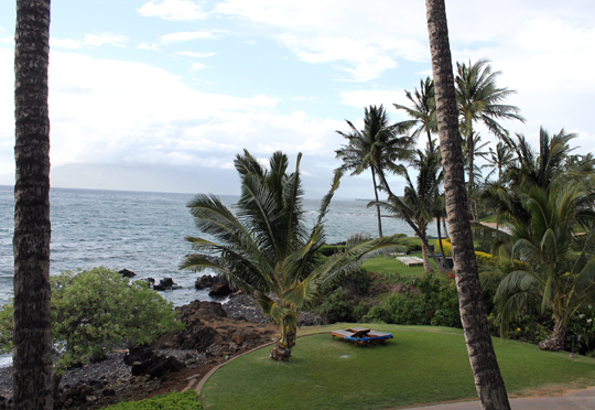 The view from my complimentary room at the Wailea Beach Marriott.