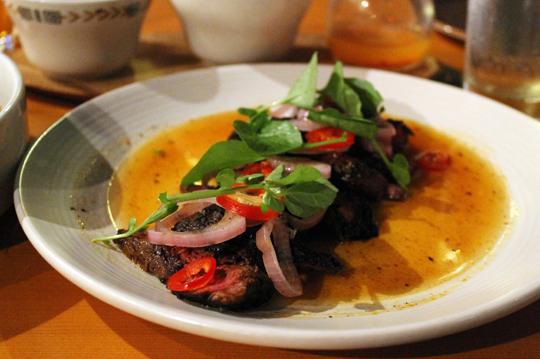 Hanger steak with Viet flavors.