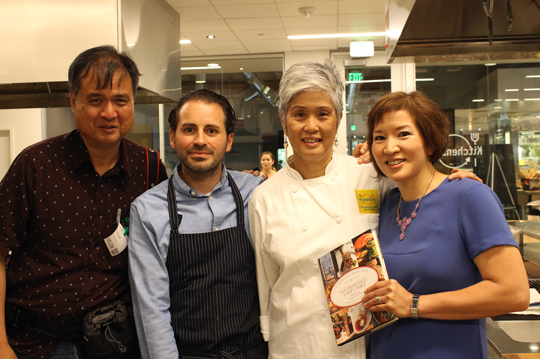 L to R: Craig Lee, Matt Accarrino, Olivia Wu of Google, and yours truly. (Thank you, Catherine Schimenti, for taking the photo.)