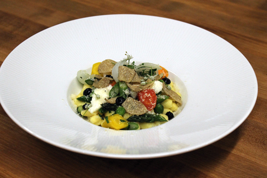 The plated gnocchi. (Photo by Carolyn Jung)