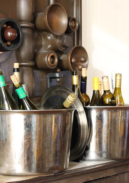 Chilled wine awaits.
