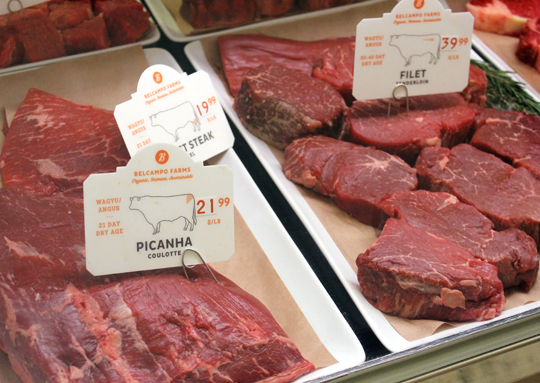 Offerings in the meat case.
