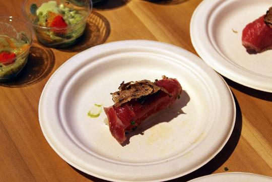 Beef tataki with black truffle at Alexander's.