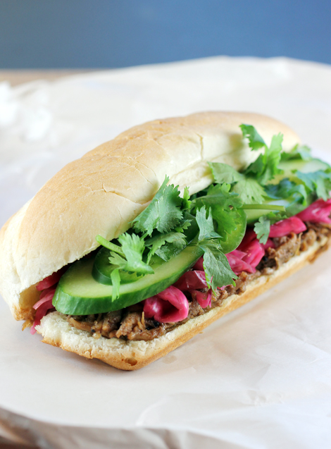 A banh mi that's a riot of flavors and color.