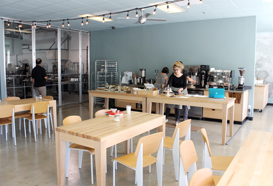 The cafe inside KitchenTown.