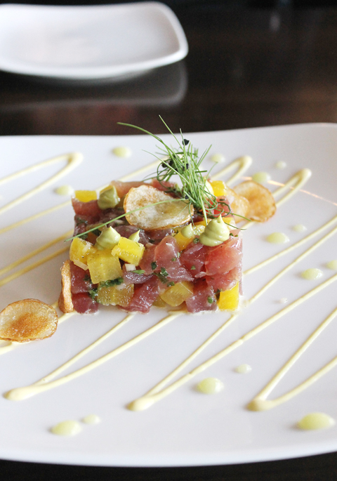 A gorgeous tuna tartare at Hult's in Los Gatos.