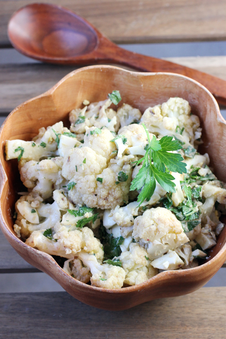 Plenty of creamy, chopped hard-cooked eggs makes this cauliflower salad creamy and substantial.