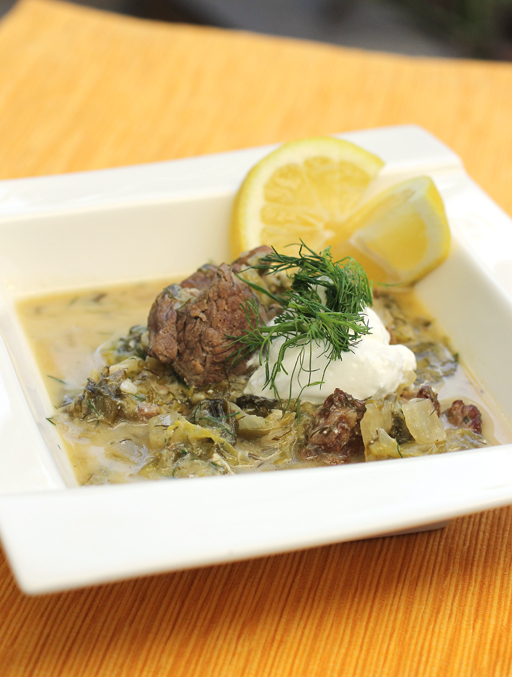 A lemony lamb fricassee that spans the seasons.