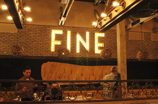 Fine food, indeed.