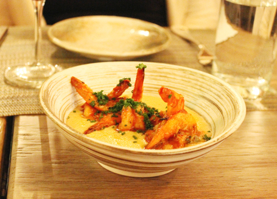 Prawns and heavenly grits.