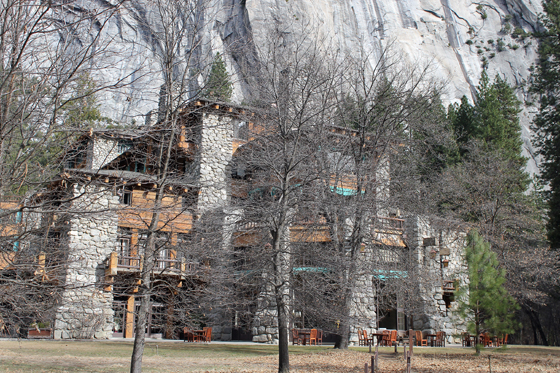 The magnificent Ahwahnee Hotel.