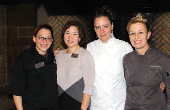 (L to R): Duskie Estes, yours truly, Zoe Antonitsas and Elizabeth Faulkner.