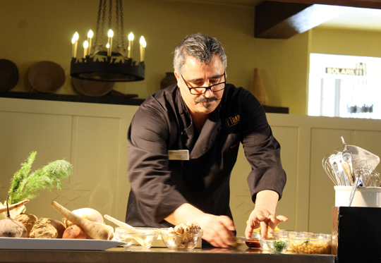 Chef Hoss Zare takes the stage.