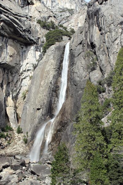 Lower Falls in Yosemite National Park.