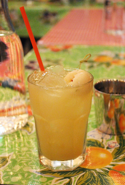 A lychee cocktail.
