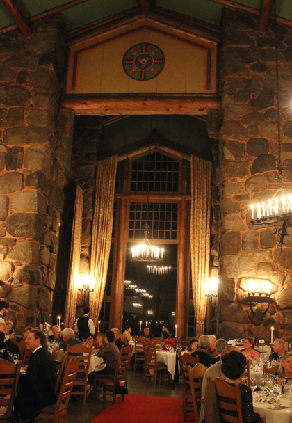 The Ahwahnee dining room all decked out for the gala dinner, a collaboration with all three women chefs and the Ahwahnee chefs.