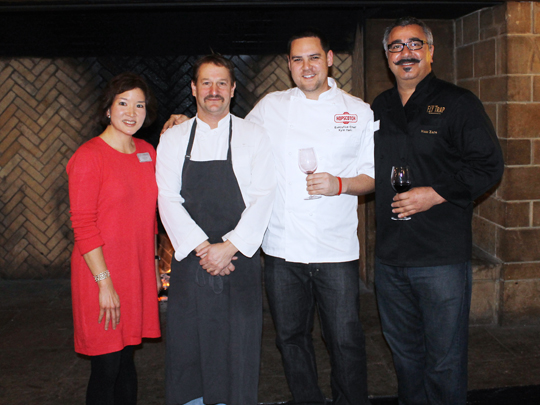 Yours truly, flanked by Chefs Ron Siegel, Kyle Itani and Hoss Zare.