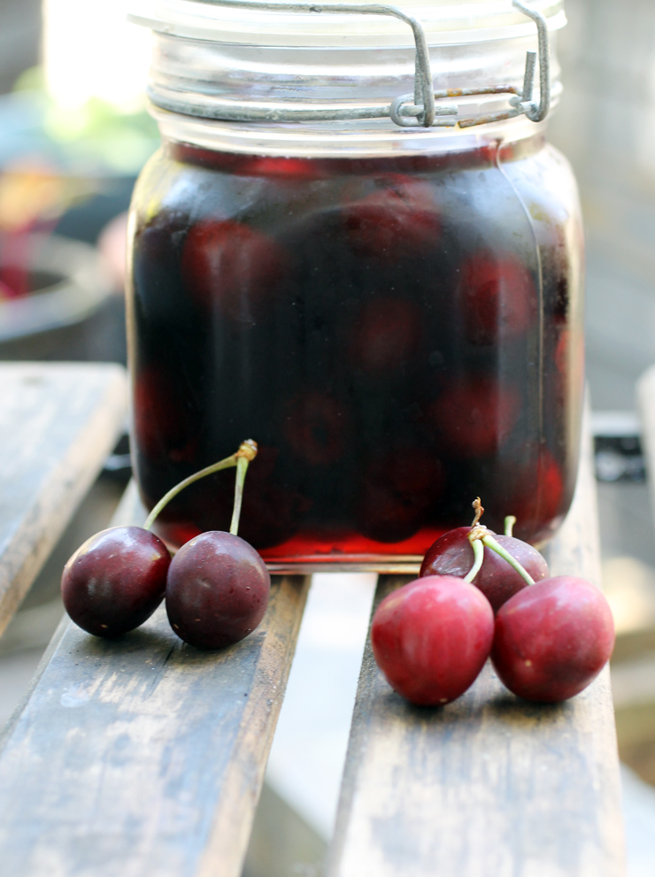 My jar of pickled cherries -- ready in a jiffy. (Photo by Carolyn Jung)