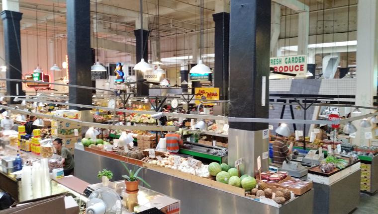 Inside Grand Central Market.