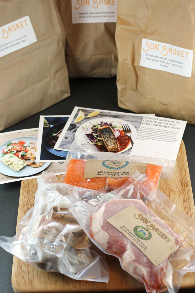 While you need to provide simple items such as olive oil, salt and pepper, everything else for the recipes comes in the box with each dish's ingredients divided into three brown bags.