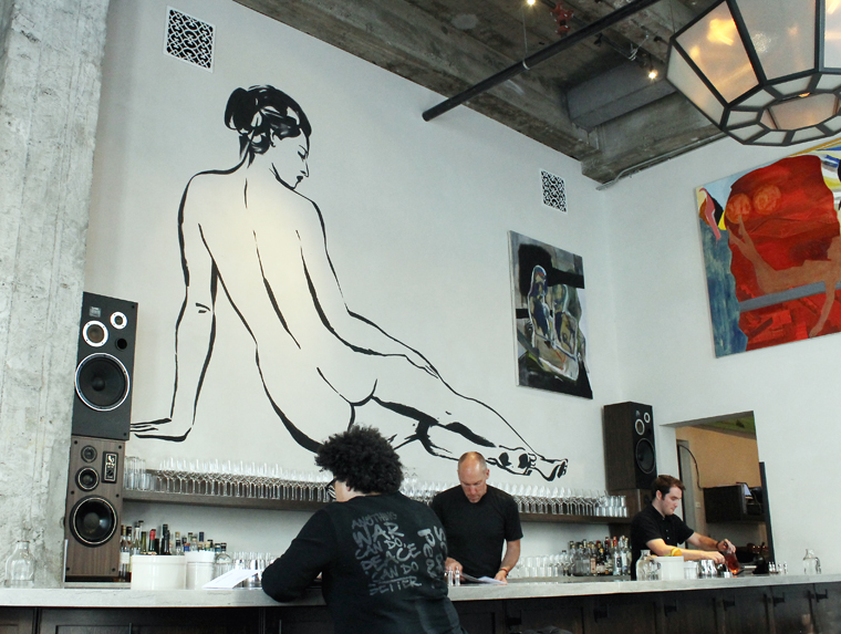 The bar with its iconic artwork.