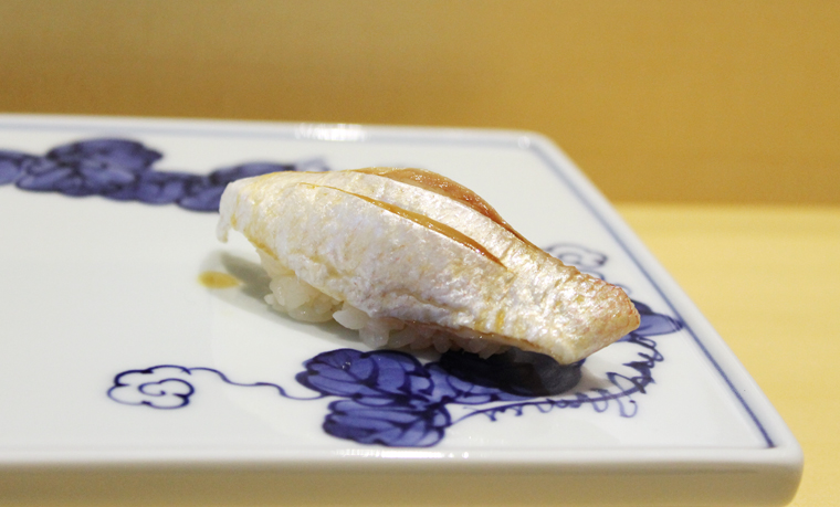 Baby Sea Bream nigiri.