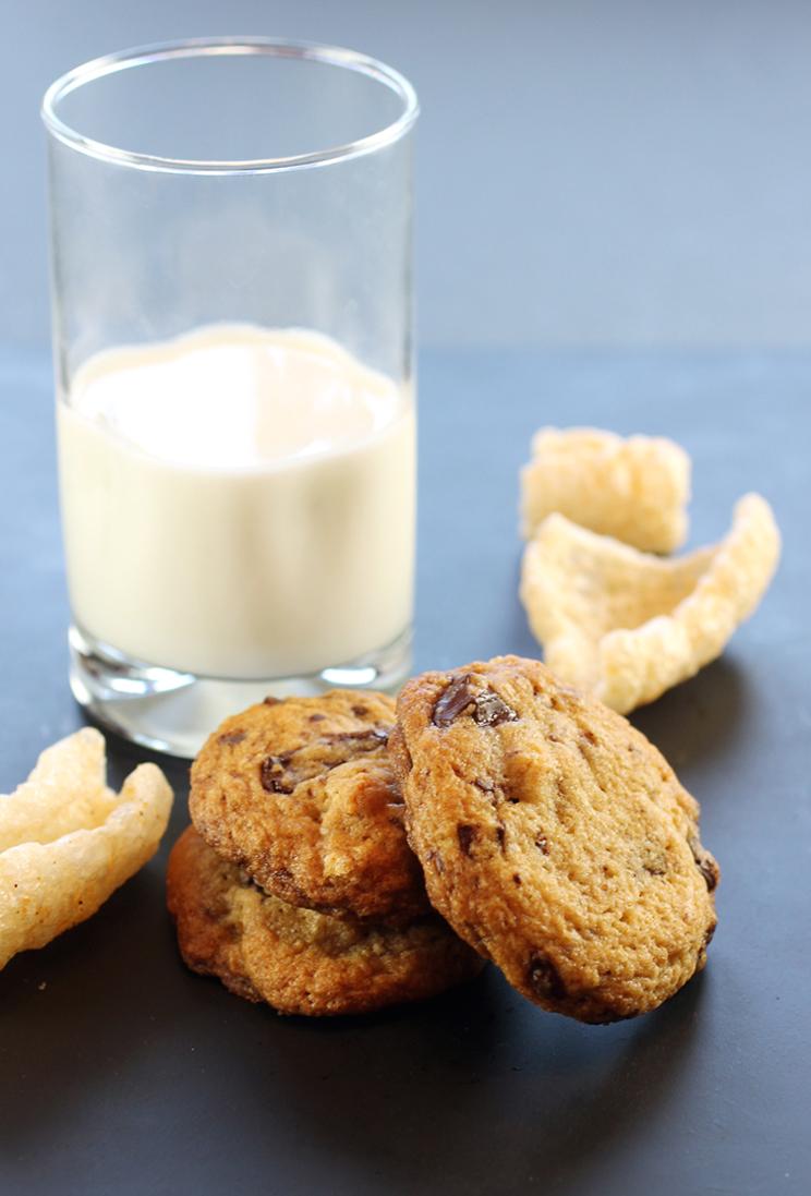 Chocolate chunk cookies -- hiding a wealth of chicharrones.