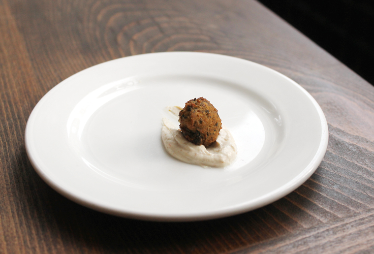 Bazirgan's falafel, so full of flavor from a profusion of fresh herbs.