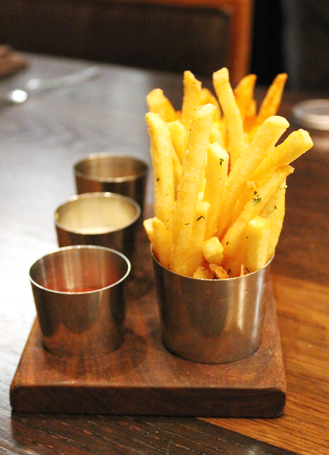 The famed duck fat-fries.