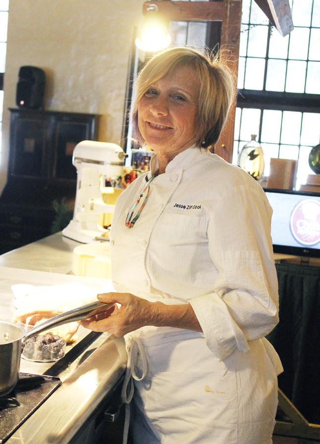 Chef Jess Cool starts her demo.