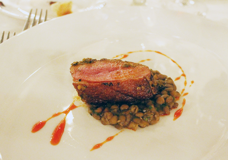 Moroccan spiced duck.
