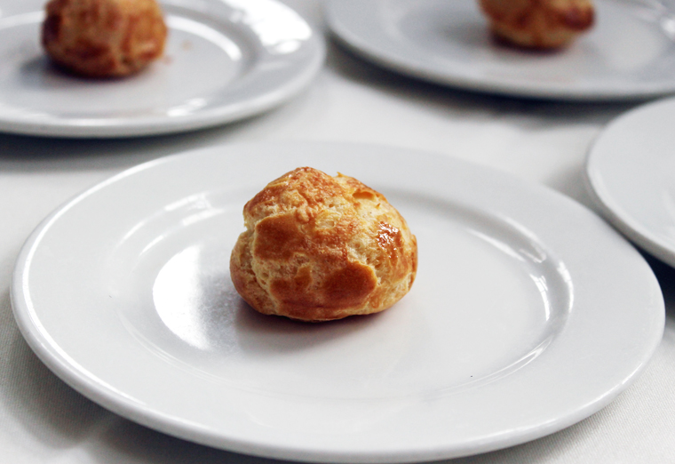 Did you know Ken Frank also trained in pastry making in Europe? His cheese gougeres.