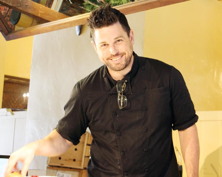 Chef Ryan Scott winning over the crowd.