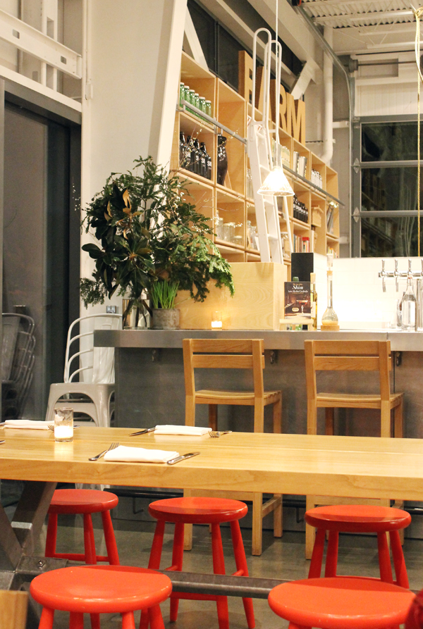 The casual dining space.