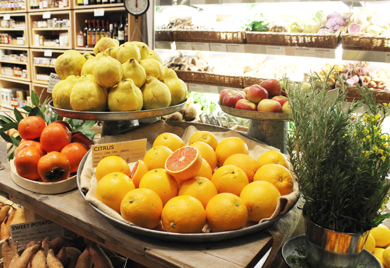 A lot of the produce used in the restaurant also is sold at the market stand.