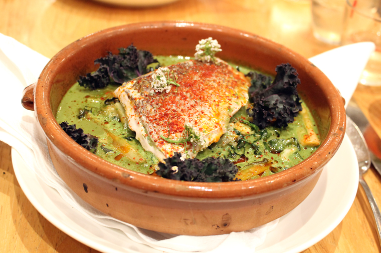 Red snapper in an incredible broth.