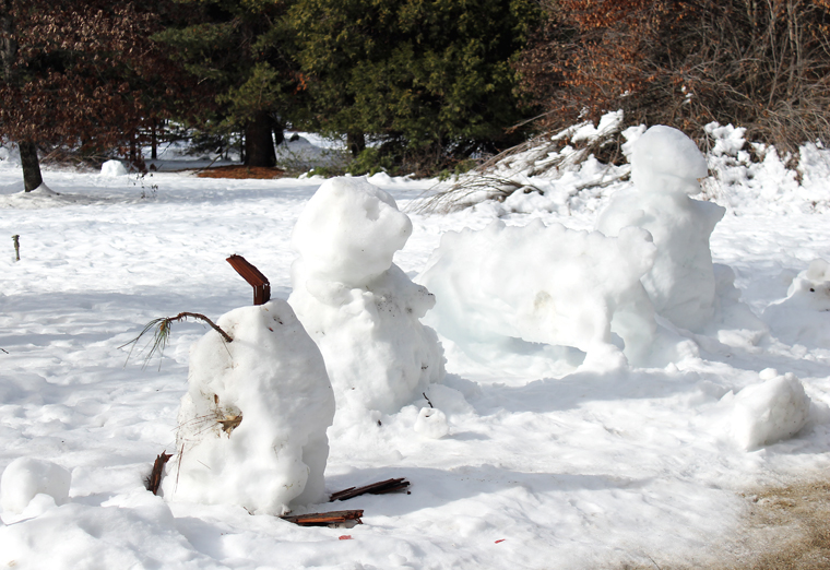 Snow(men) and creatures.