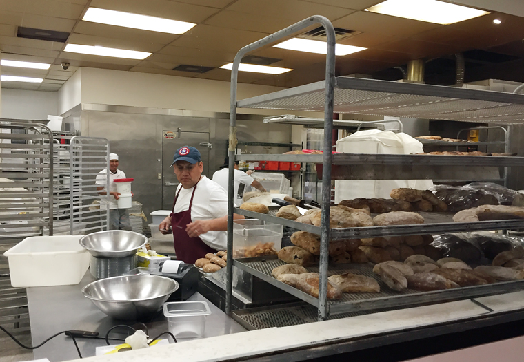 Bread Lounge's production kitchen.