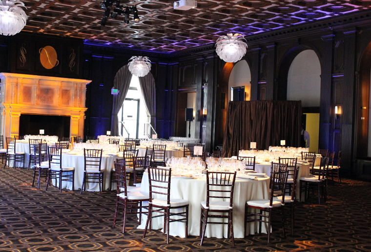 The ballroom before the guests arrived.