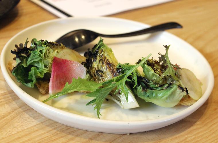 Grilled lettuces.