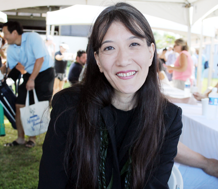Michelle Karr-Ueoka and her husband Wade Ueoka also create the food for the cafe in the Hawaii State Art Museum.