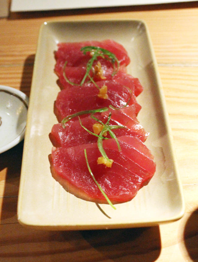Yellowfin tuna.