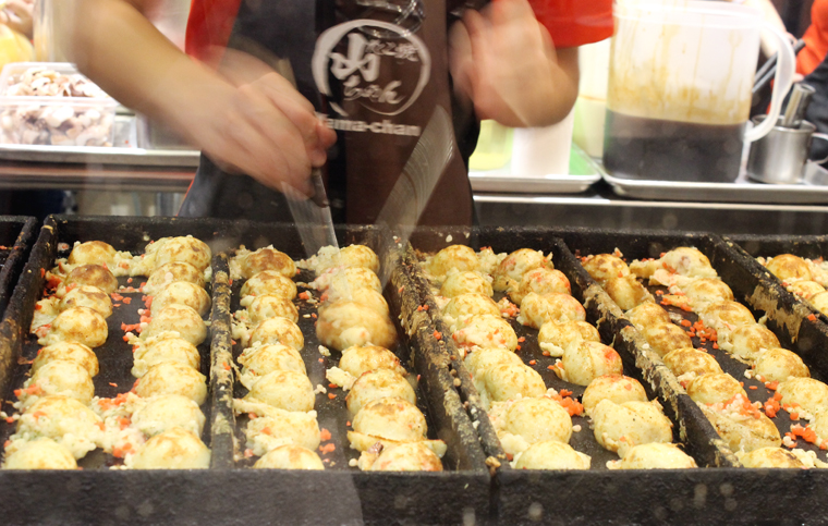 Takoyaki -- made in front of you.