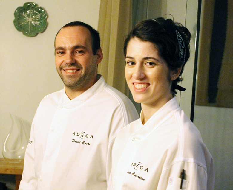 Chefs David Costa and Jessica Carreira of San Jose's first Michelin starred restaurant, Adega.