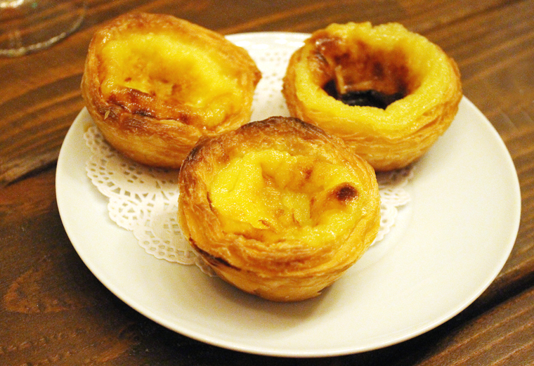 Irresistible custard tarts.