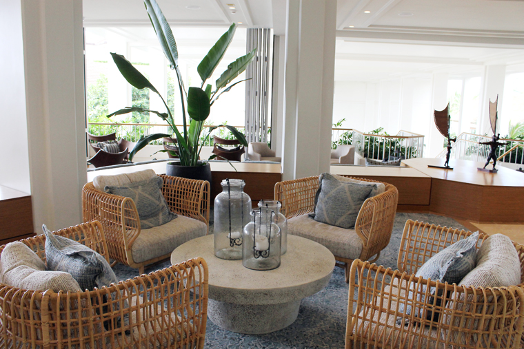 Take a load off in one of the airy sitting areas.
